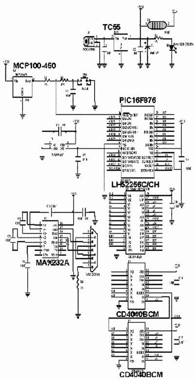 图1、图2、图4和图5中布线的电路原理图