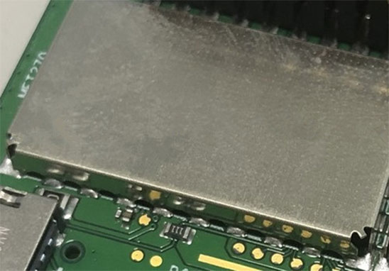 屏蔽罩直接焊接于电路板(directly mount shielding-can on PCB)